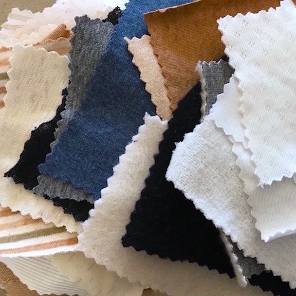 47 Color Grown, Pima & Tanguis Organic Cotton Fabric Samples