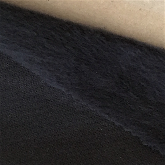 Peruvian GOTS Native Organic Tanguis Cotton Black Hand Brushed Fleece Fabric