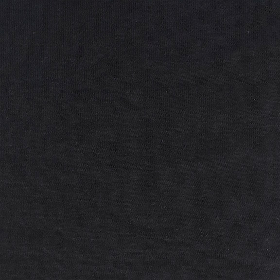 Peruvian GOTS Organic Cotton Pima 1x1 Rib Fabric (Black)