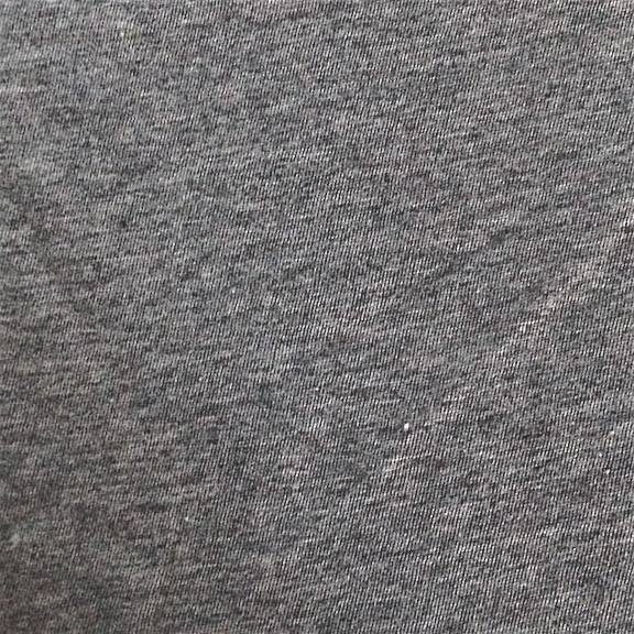 Peruvian GOTS Organic Pima Cotton Jersey Fabric (Charcoal Ash Heather)