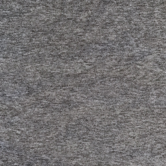 Peruvian GOTS Organic Cotton Pima 1x1 Rib Fabric (Charcoal Ash Heather)