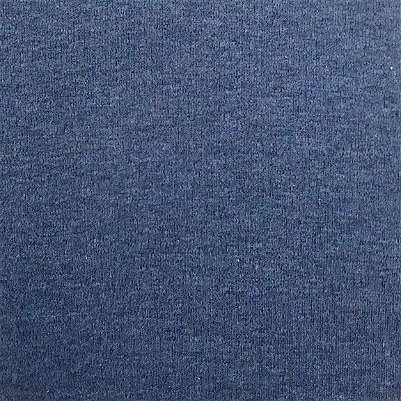 Peruvian GOTS Organic Pima Cotton Interlock Fabric (Indigo Heather)