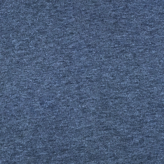 Peruvian GOTS Organic Cotton Pima 1x1 Rib Fabric (Indigo Heather)