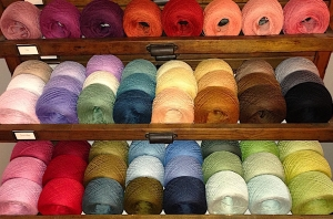 Ecobutterfly Ecology Strings: Organic Tanguis Cotton 10/2 Lace Half Pullskein (55 Color Choices)