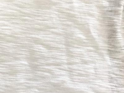 Peruvian GOTS Organic Tanguis Cotton Zebra Flamme Jersey Fabric (Eco White)