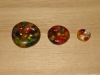 "3/4""  (20 mm) Artisan Recycled Glass Buttons (Deep Rainbow)"