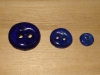 "3/4""  (20 mm) Artisan Recycled Glass Buttons (Cobalt)"
