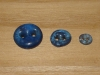 "3/4""  (20 mm) Artisan Recycled Glass Buttons (Indigo)"