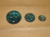 "Mali Teal Artisan Recycled Glass Buttons (3/8"", 5/8"" or 3/4"")"