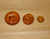 "3/4""  (20 mm) Artisan Recycled Glass Buttons (Amber)"