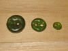 "3/4""  (20 mm) Artisan Recycled Glass Buttons (Deep Moss Green)"