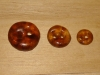 "3/4""  (20 mm) Artisan Recycled Glass Buttons (Tortoise Shell)"