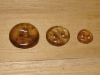 "3/4""  (20 mm) Artisan Recycled Glass Buttons (Smokey Topaz)"