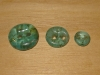 "3/4""  (20 mm) Artisan Recycled Glass Buttons (Soft Turquoise)"