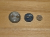 "3/4""  (20 mm) Artisan Recycled Glass Buttons (Sky)"