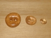 "3/4""  (20 mm) Artisan Recycled Glass Buttons (Peach)"
