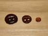 "3/4""  (20 mm) Artisan Recycled Glass Buttons (Dark Rootbeer)"