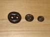 "3/4""  (20 mm) Artisan Recycled Glass Buttons (Dark Charcoal)"