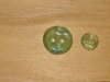 "Aqua Pool Artisan Recycled Glass Buttons (3/8"" or 5/8"")"