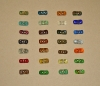 Artisan Handmade Recycled Glass Toggle Buttons (NEW)