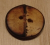 "7/8"" Round Burnt~edged Bamboo Button"
