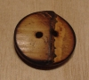 "3/4"" Round Burnt~edged Bamboo Button"