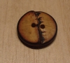 "5/8"" Round Burnt~edged Bamboo Button"
