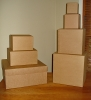 Eco~Friendly Recycled Kraft Gift Box 8x8x4
