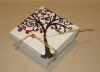 "Handmade Hemp Fiber Tree of Life Print Gift Box 3""x3""x1.5"""