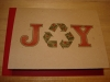 Grow-A-Note: Joy with the Recycle Symbol Holiday Card
