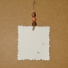 Grow-A-Note Gift Tag (Deckled Square with Choice of Paper Color & Bead Color....Set of 10)