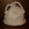 Cute & Simple Hand Spun Chunky Organic Cotton Yarn Baby Hat