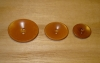 "7/8"" x 5/8"" Cinnamon Corozo (Tagua Nut) Oval Saucer Button"