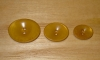 "7/8"" x 5/8"" Soft Golden Tan Corozo (Tagua Nut) Oval Saucer Button"