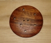 "2 5/8"" Extra Extra Large Round Multi-Hole Wood Button"