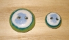 "1/2"" Recycled Glass Button (Mint Green, Teal, White, Sky Mix)"