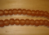 10 Desert Peach Artisan Large Recycled Glass Beads