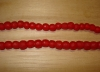 20 Ruby Red Artisan Small Recycled Glass Beads