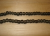 20 Charcoal Gray Artisan Small Recycled Glass Beads
