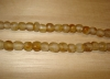 20 Light Tortoise Shell Artisan Small Recycled Glass Beads