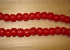 15 Ruby Red Artisan Medium Recycled Glass Beads