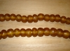 10 Amber Artisan Large Recycled Glass Beads