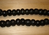 10 Dark Charcoal Artisan Large Recycled Glass Beads