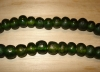 10 Deep Moss Artisan Large Recycled Glass Beads