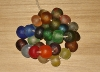 1 Set (30 large beads) Rainbow Mix Recycled Glass Beads