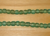 15 Soft Turquoise Artisan Medium Recycled Glass Beads