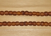 15 Chocolate Mocha Artisan Medium Recycled Glass Beads
