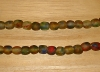 15 Deep Rainbow Artisan Medium Recycled Glass Beads