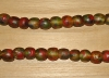 10  Deep Rainbow Artisan Large Recycled Glass Beads