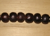 5 Dark Rootbeer Artisan Extra Large Recycled Glass Beads
